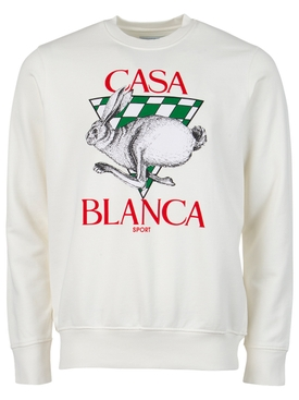 Casa Sport Screen Print Sweatshirt off-white