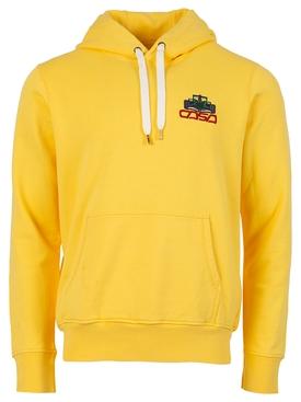 Embroidered Hooded Sweatshirt Solar Yellow