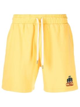 Embroidered Sweatshort Solar Yellow
