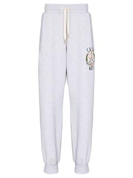 Embroidered Sweatpant Grey Marl Tennis Club
