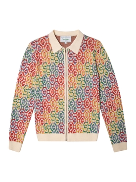 Rainbow Logo Knit Cardigan