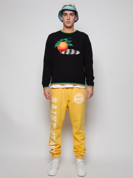 Orange Intarsia Sweater Black