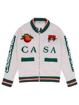 Casa Racing Intarsia Knit