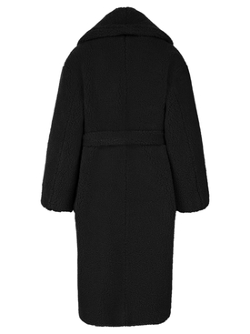 Recycled Polyester Shearling Robe Black