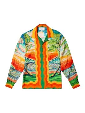 Printed Silk Twill Shirt Haukai
