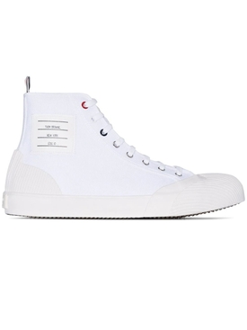 White Vulcanised 4-Bar high-top sneakers