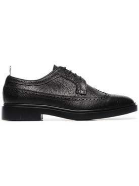 BLACK LEATHER CLASSIC LONGWING BROGUE