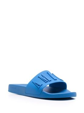 3D Logo Pool Slide Royal Blue