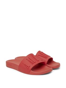 3D Logo Pool Slide Sandal White