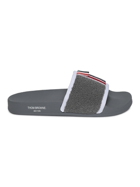 Terry Cloth Pool Slide, Medium Grey