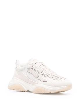 Bone runner sneaker mixed white
