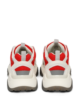 Low-top Bone Runner Sneaker White and Red