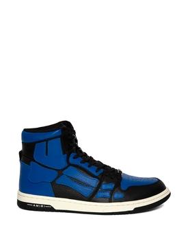 SKEL TOP HI SNEAKER BLACK AND BLUE