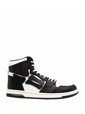 Skeleton High Top B Ball Sneakers White and Black