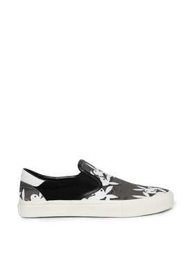 Playboy slip on sneakers grey and white