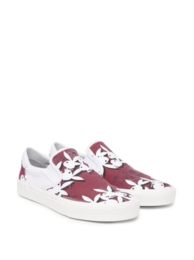Playboy slip on sneakers red and white