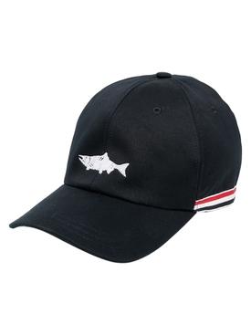 CLASSIC FISH ICON BASEBALL CAP, NAVY