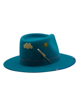 Miami Nice Turquoise Felt Hat
