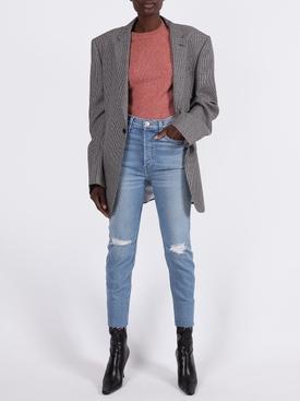 Mila cashmere crewneck sweater BLUSH