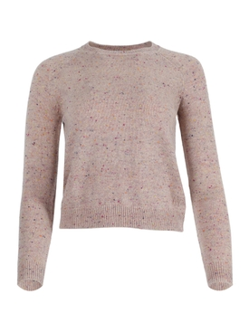 Mila cashmere tweed sweater BEIGE PINK