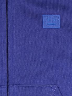 Kids zipped hoodie ELECTRIC BLUE