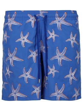Mistral Starfish Print Swim Trunks Blue
