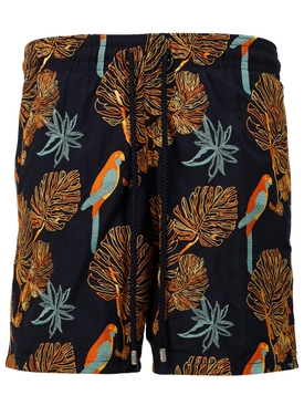 PARAKEET PRINT SWIM SHORTS MULTICOLOR NAVY