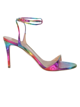 Multicolored metallic minute sandal