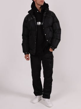 x Rocky Mountains BLACK PANEL LEATHER PUFFER JACKET