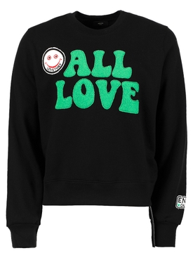 All Love Crewneck Sweatshirt, Black