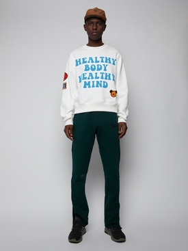 Healthy Body Crewneck Sweater, Snow