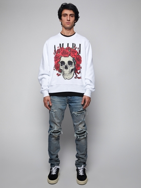 GRATEFUL DEAD SKULL SWEATSHIRT, WHITE