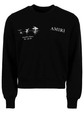 Medical Hemp Crewneck Sweater, Black