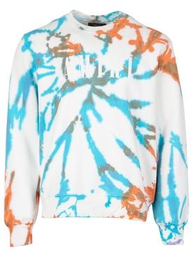 Core Logo Tie Dye Crewneck Sweatshirt