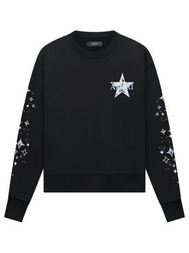 PAISLEY STAR CREWNECK SWEATSHIRT BLACK