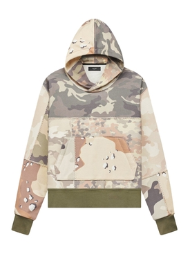 FITTED PATCHWORK CAMO HOODIE