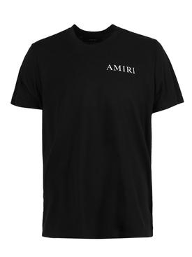 Cannabis leaves logo t-shirt, black