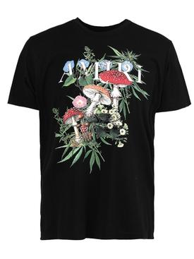 psychedelic crewneck logo t-shirt, black