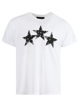 Bandana stars t-shirt, white