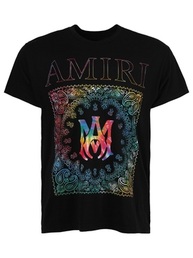 Rainbow bandana t-shirt, black