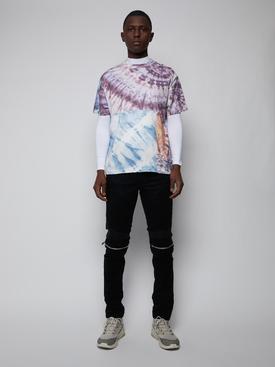 Tie dye patchwork t-shirt