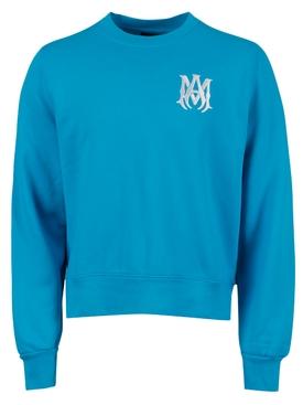 MA Crewneck Sweater, Cyan