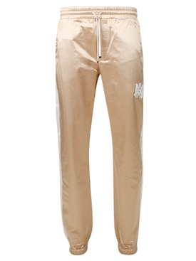 Sateen Drawstring Track Pant CHAMPAGNE AND WHITE