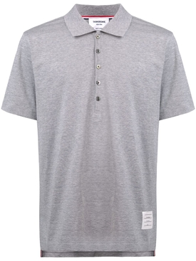 Relaxed fit short sleeve polo shirt LIGHT GREY
