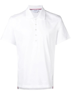 Relaxed fit short sleeve polo shirt WHITE