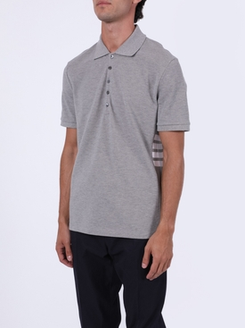 4-BAR SHORT SLEEVE POLO SHIRT GREY