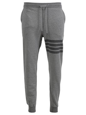 4 bar striped cotton sweatpants MEDIUM GREY