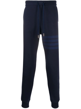 4 bar striped cotton sweatpants NAVY