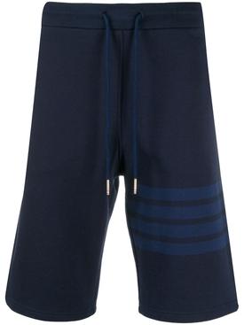 4-Bar loopback track shorts NAVY