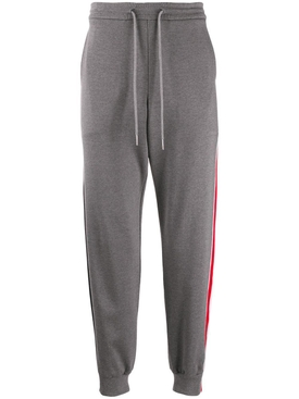 Thom Browne - Contrasting Side Stripe Jogger Pants Grey - Men